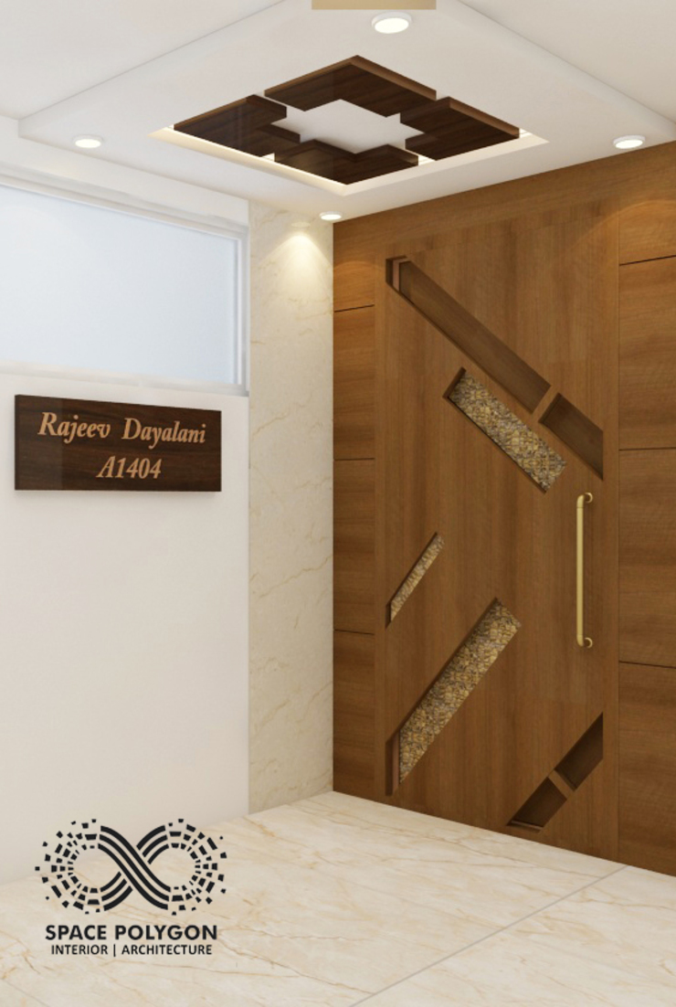 Entrance Door Space Polygon Living roomAccessories & decoration Wood effect