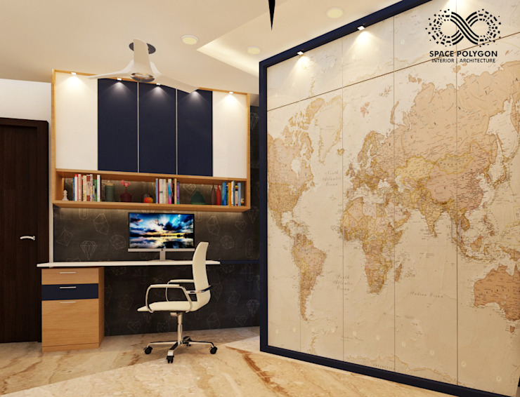 Home office: modern  by Space Polygon,Modern