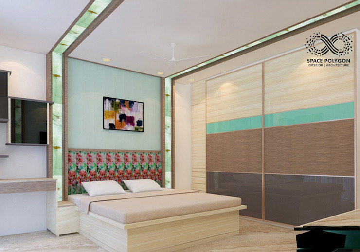 Parents bedroom:  Bedroom by Space Polygon,