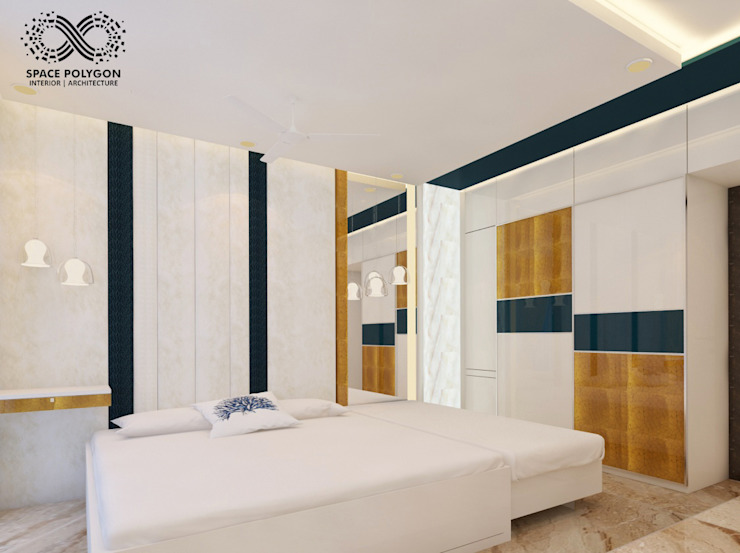 Master Bedroom Modern style bedroom by Space Polygon Modern
