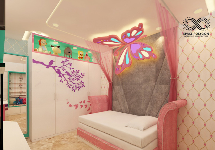 Daughter's bedroom: modern  by Space Polygon,Modern