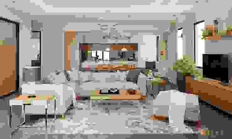 nội thất căn hộ hiện đại CEEB モダンデザインの リビング