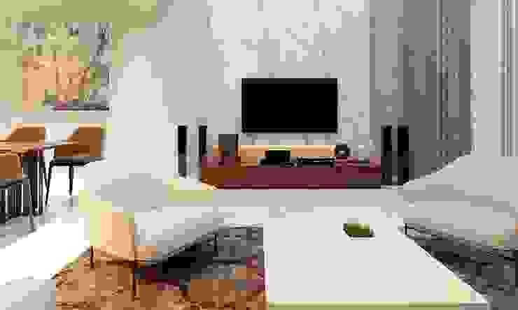 nội thất căn hộ hiện đại CEEB Ruang Keluarga Modern