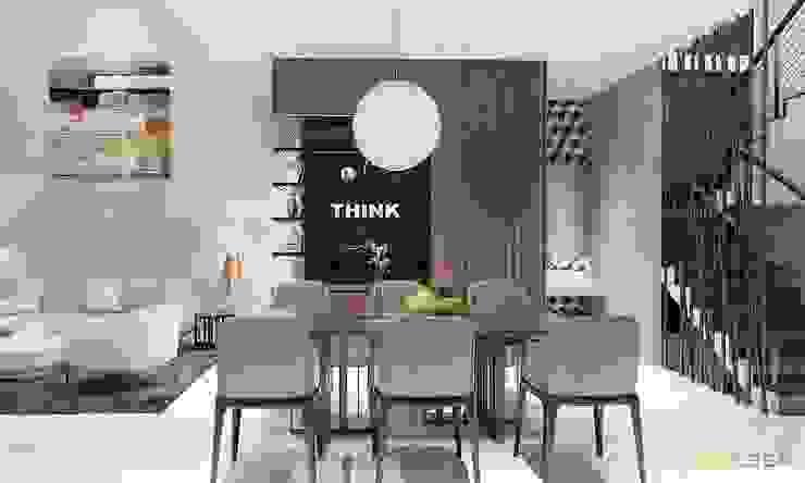 nội thất căn hộ hiện đại CEEB Ruang Makan Modern