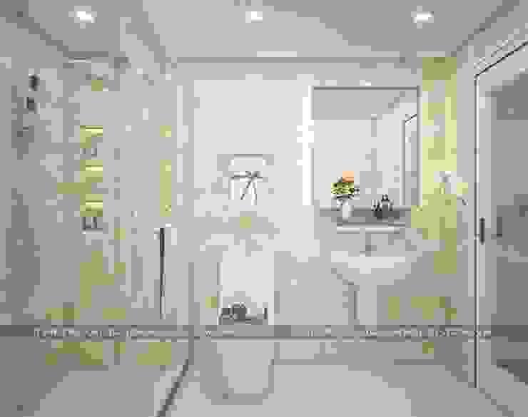 Mẫu nhà đẹp 3 tầng 5x12m đơn giản mà đẹp phù hợp với mọi gia đình Phòng tắm phong cách hiện đại bởi Công ty cổ phần tư vấn kiến trúc xây dựng Nam Long Hiện đại