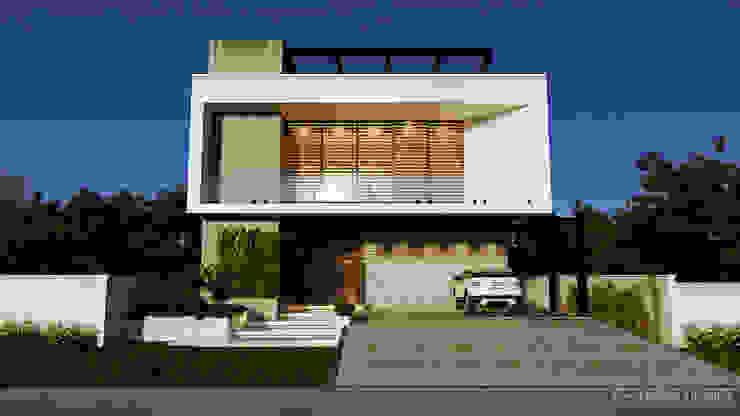 Casa moderna AB Gelker Ribeiro Arquitetura | Arquiteto Rio de Janeiro Condomínios Concreto Branco