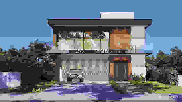 CASA ET Gelker Ribeiro Arquitetura | Arquiteto Rio de Janeiro Condomínios Madeira Efeito de madeira