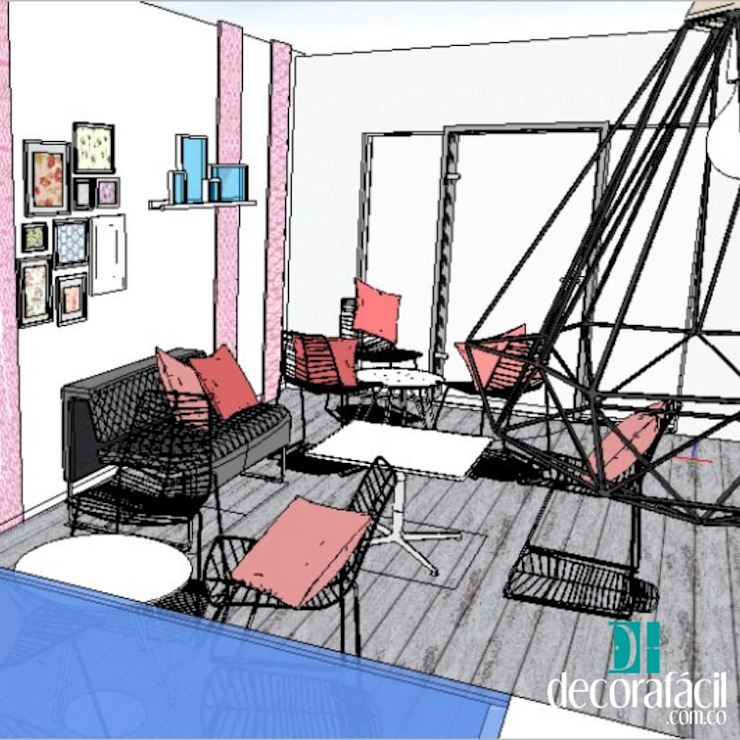 Vista desde el interior del espacio de DECORAFACIL Moderno