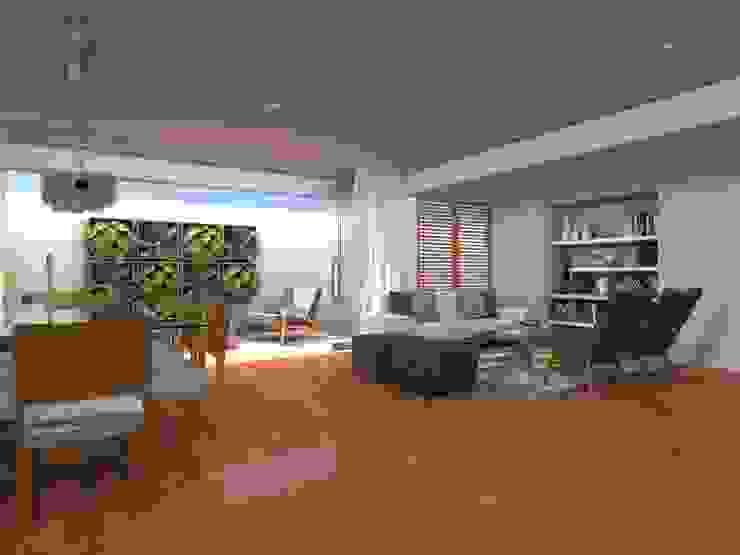 Sala y Comedor Salas modernas de RAUM Estudio Moderno Concreto