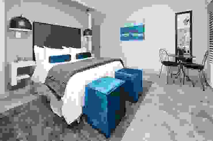 New Build Guest House de Kelders Modern style bedroom by Overberg Interiors Modern