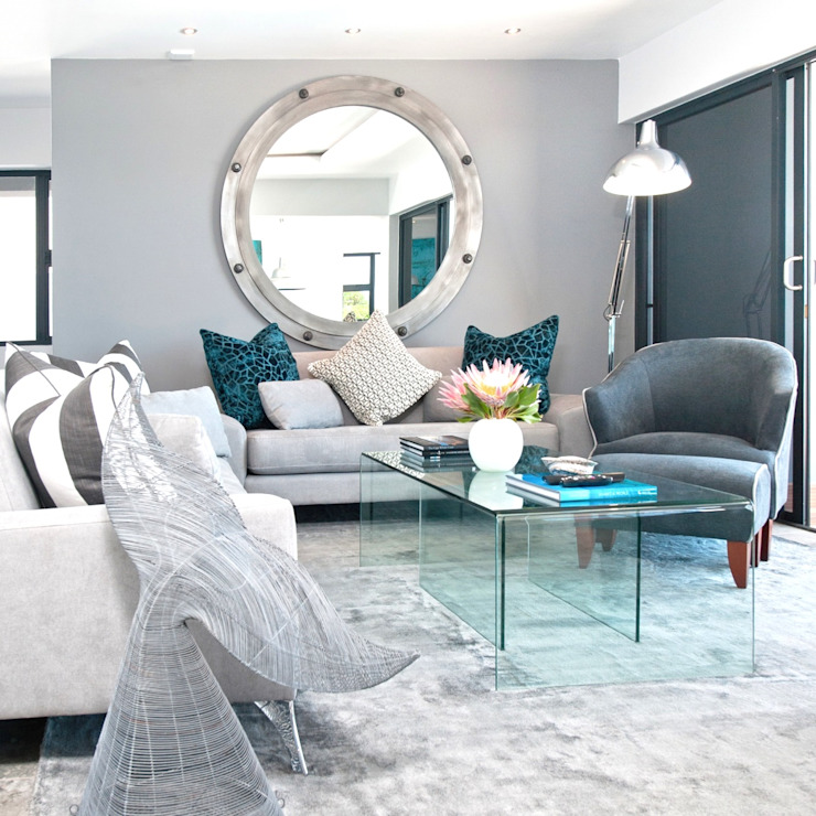 New Build Guest House de Kelders Modern living room by Overberg Interiors Modern