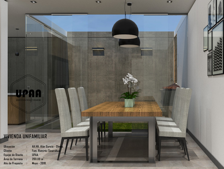 Modern Dining Room by UPAA ARQUITECTOS Modern