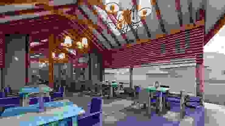 Rustieke balkons, veranda's en terrassen van FRANCO CACERES / Arquitectos & Asociados Rustiek & Brocante