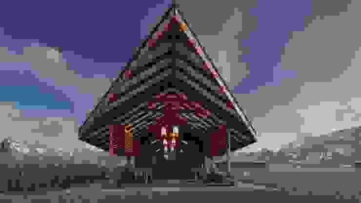 Balcon, Veranda & Terrasse rustiques par FRANCO CACERES / Arquitectos & Asociados Rustique