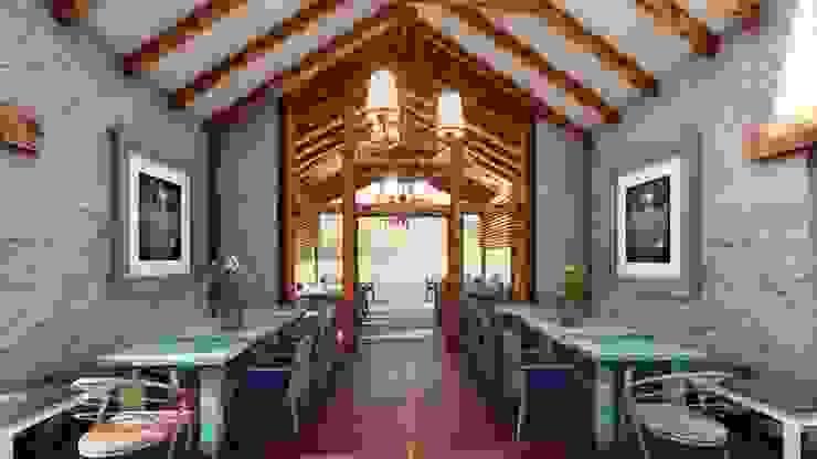 Salle à manger rustique par FRANCO CACERES / Arquitectos & Asociados Rustique