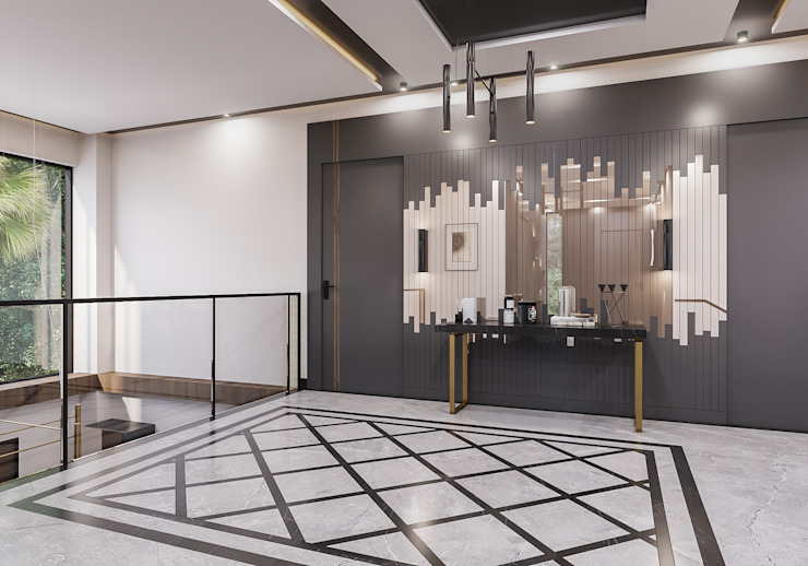 Galeri boşluğu Modern Koridor, Hol & Merdivenler ANTE MİMARLIK Modern