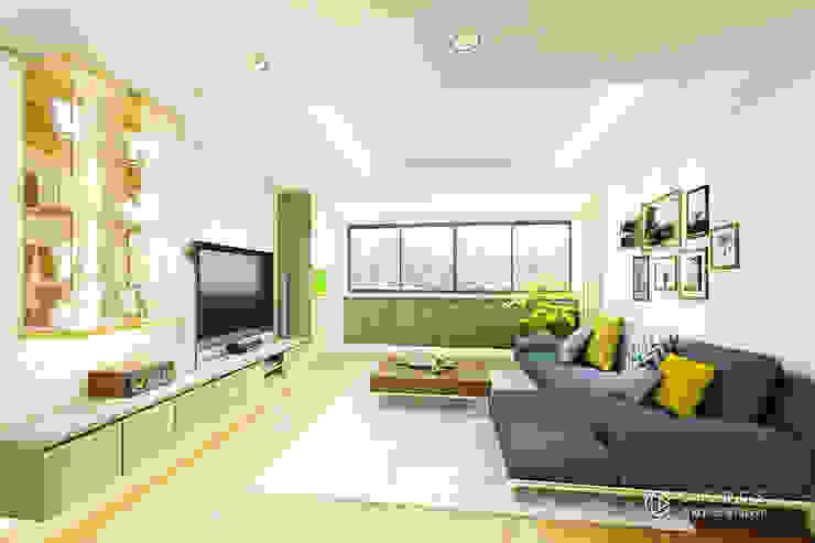 現代風格客廳設計 Modern living room by 有關創意室內設計 Modern