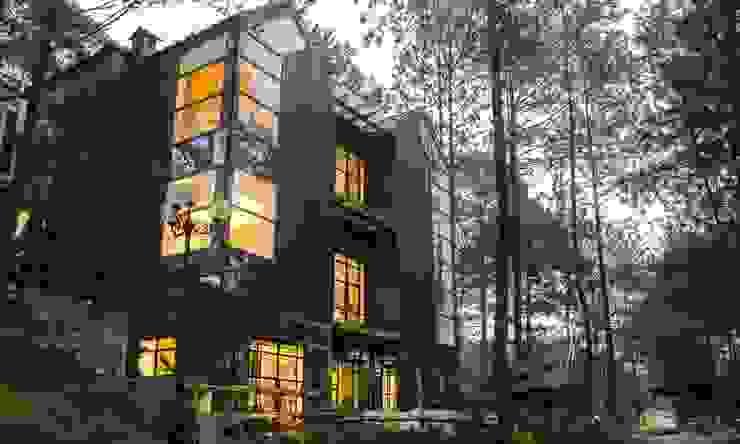 thiết kế kiến trúc biệt thự nghỉ dưỡng dalat bởi thiết kế khách sạn hiện đại CEEB Hiện đại