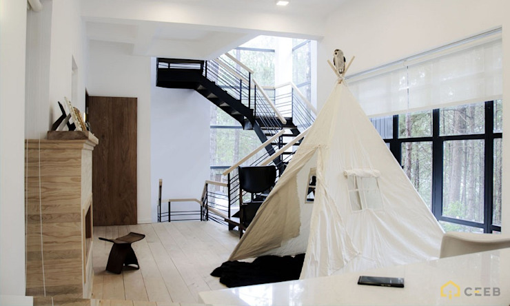 thiết kế nội thất biệt thự nghỉ dưỡng dalat Phòng giải trí phong cách hiện đại bởi thiết kế khách sạn hiện đại CEEB Hiện đại
