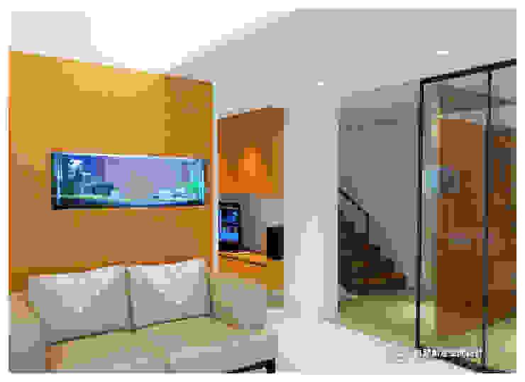 老屋翻新-住宅空間。台北【木柵-C宅】 现代客厅設計點子、靈感 & 圖片 根據 有關創意室內設計 現代風