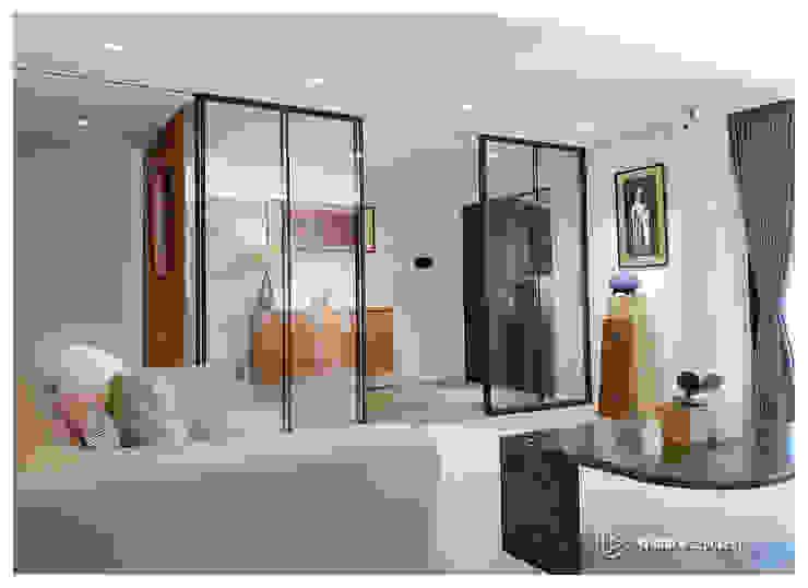 老屋翻新-住宅空間。台北【木柵-C宅】 现代客厅設計點子、靈感 & 圖片 根據 有關創意室內設計 現代風 磁磚