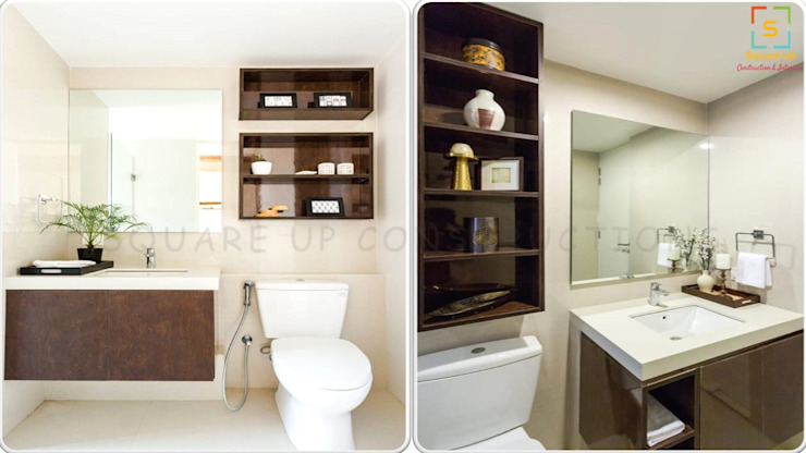 Residential Interiors Modern bathroom by Square Up Construction & Interiors Modern