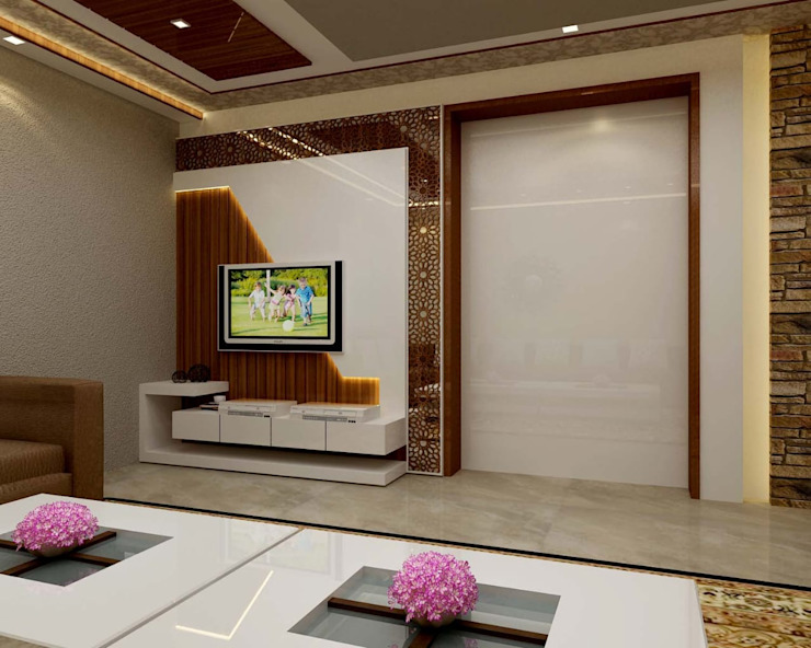 4 BHK Interior Design In Ghaziabad :   by RID INTERIORS
