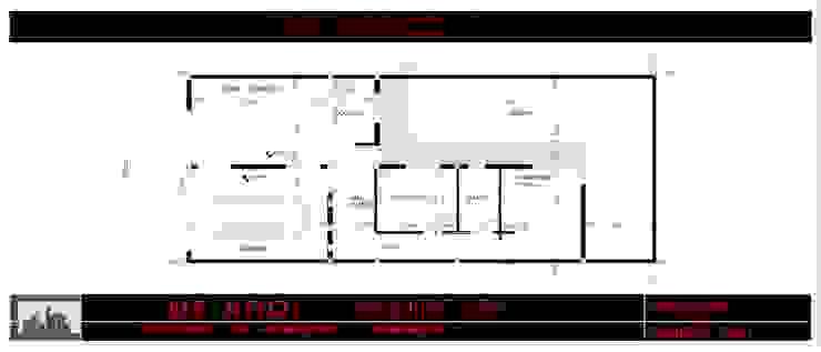 Tipologia vivienda unifamiliar de dos dormitorios. de DF ARQ Minimalista Concreto reforzado