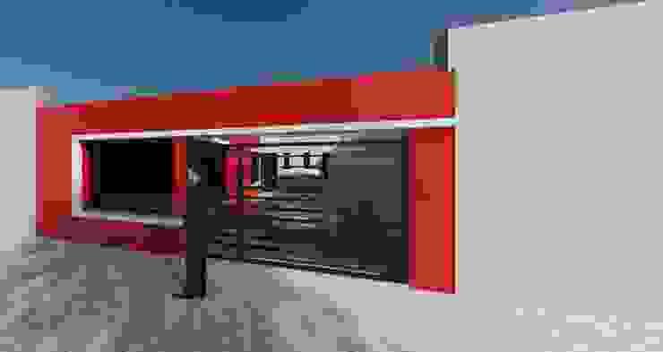 Tipologia vivienda unifamiliar de dos dormitorios. Casas minimalistas de DF ARQ Minimalista Concreto reforzado