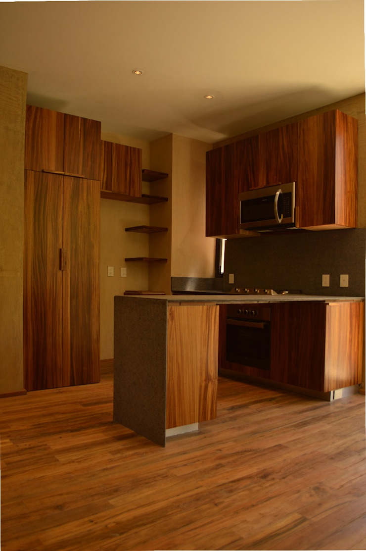 Modern style kitchen by MOKALI Carpintería Residencial Modern Wood Wood effect