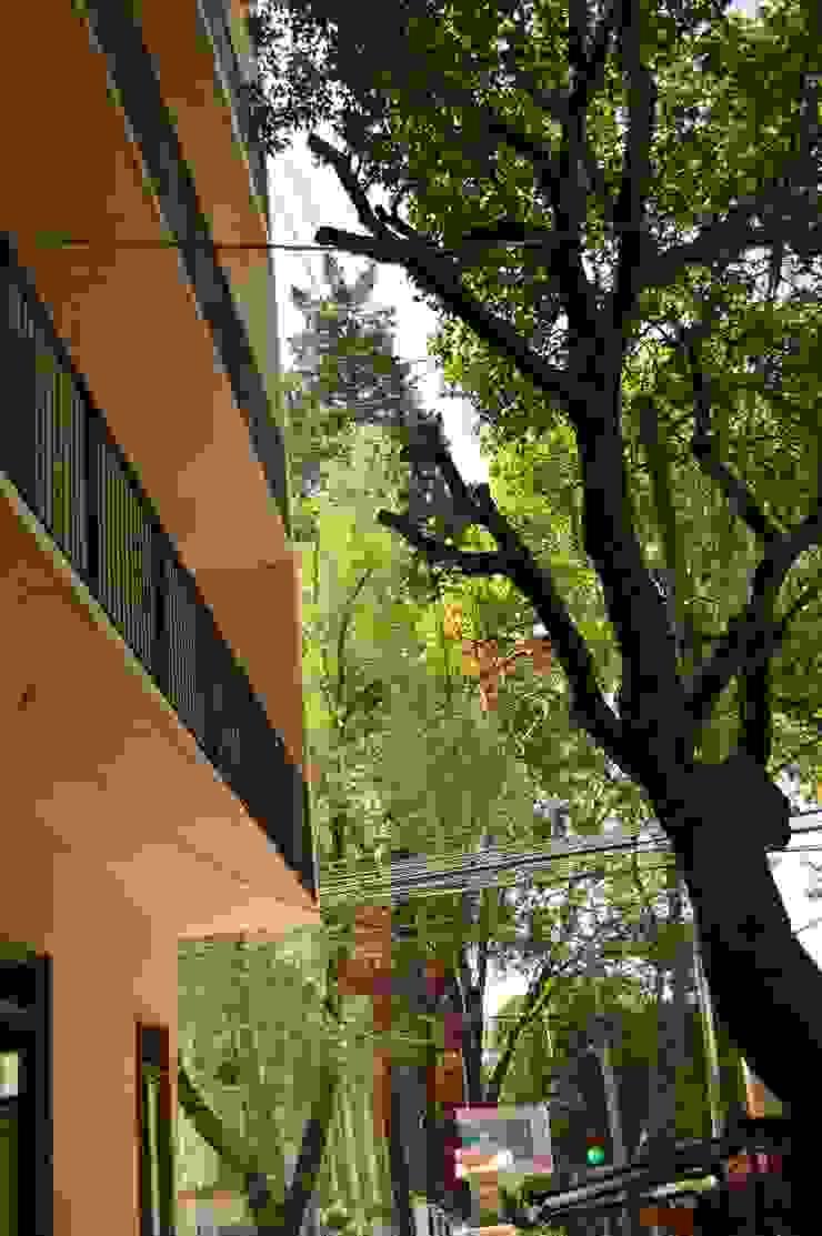 MOKALI Carpintería Residencial Terrace house Concrete Multicolored