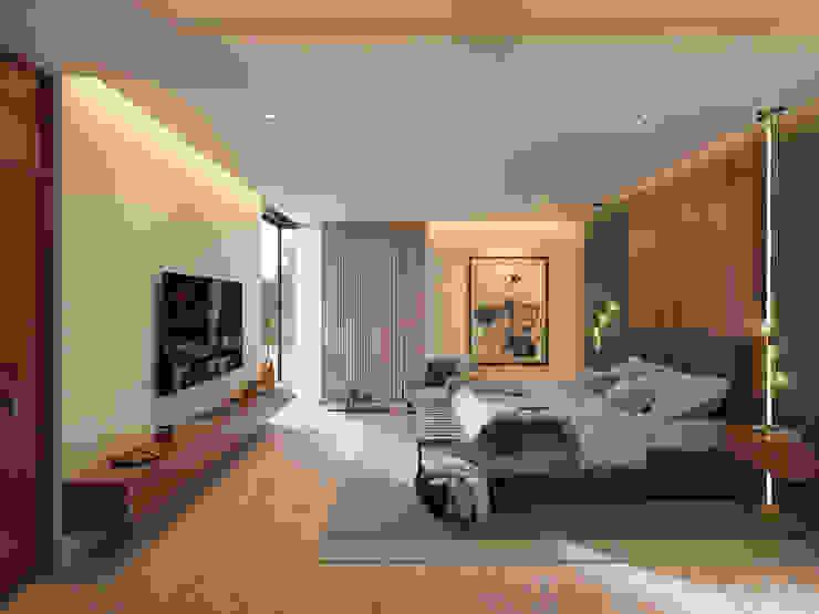 ห้องนอน โดย Álvarez Bernés Arquitectura,