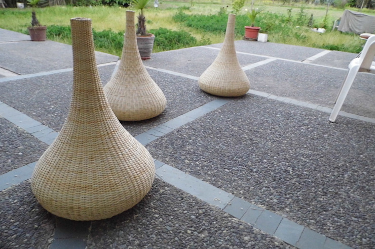 Lámpara modelo Aladino de ELMIMBRE Spa - Diseño, Fabricación y Comercialización de productos en Mimbre - Región Metropolitana - Chile Rústico Ratán/Mimbre Turquesa