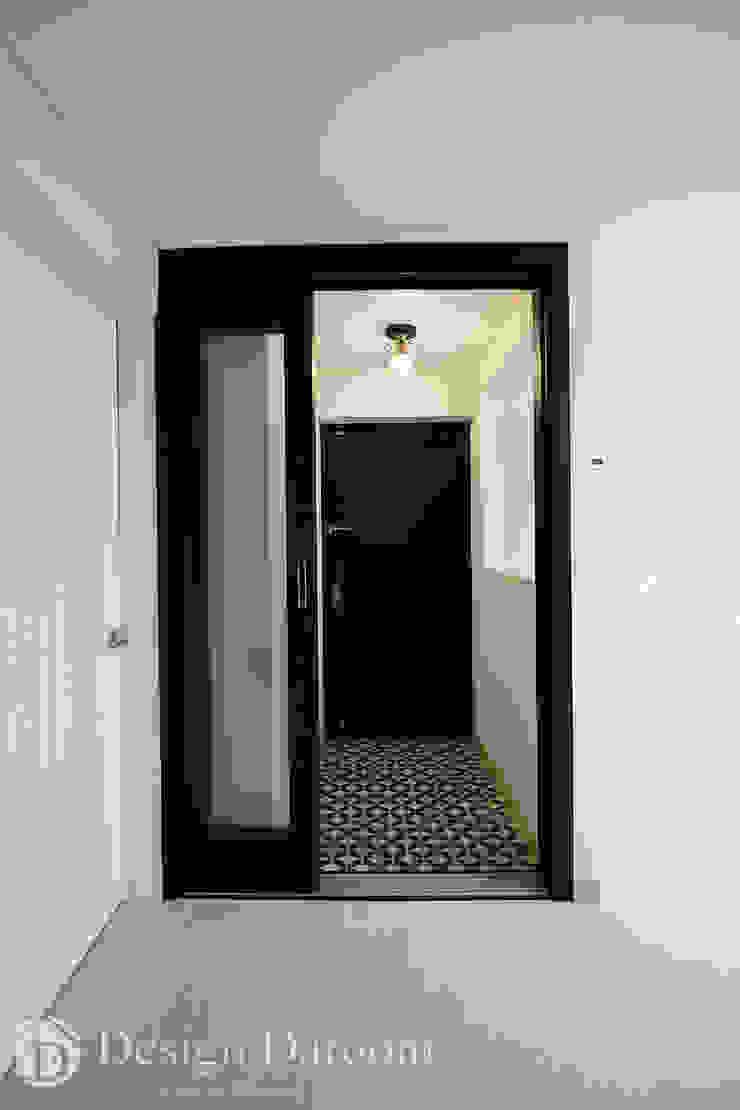 인창동 래미안 33py 현관 모던스타일 복도, 현관 & 계단 by Design Daroom 디자인다룸 모던