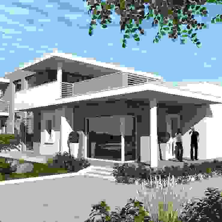 Villa Marta Ingrosso architetto Casa unifamiliare Cemento Bianco