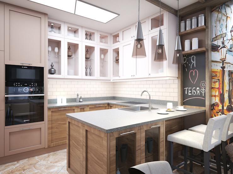 Modern kitchen by Андреевы.РФ Modern