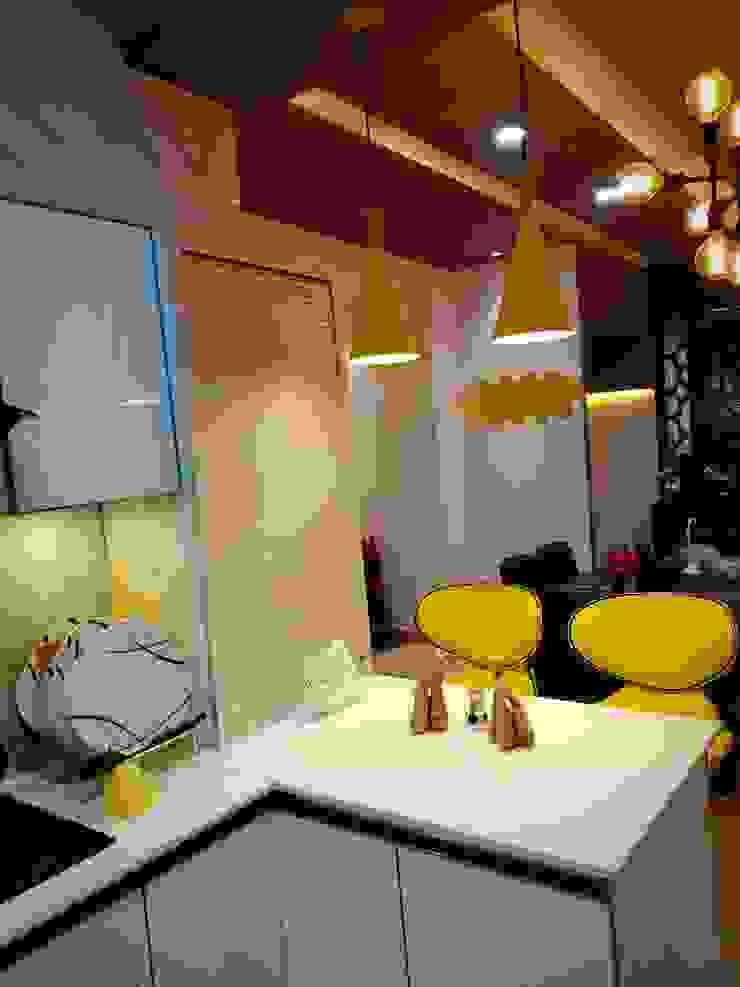 Maayish Architects KitchenCabinets & shelves Turquoise