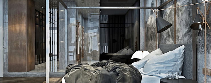 United States House by YØDEZEEN DelightFULL Small bedroom Copper/Bronze/Brass Black