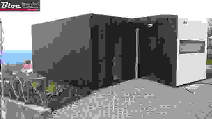Vista da entrada BLOC - Casas Modulares