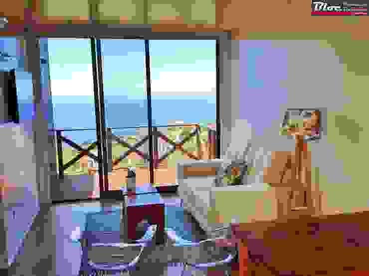 Sala com vista panorâmica BLOC - Casas Modulares