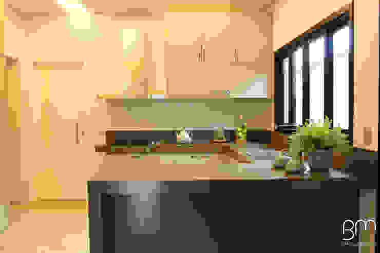 Cozinha Arquiteta Bianca Monteiro Armários e bancadas de cozinha Quartzo Bege