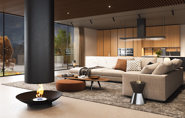 di Shelter ® Fireplace Design Moderno