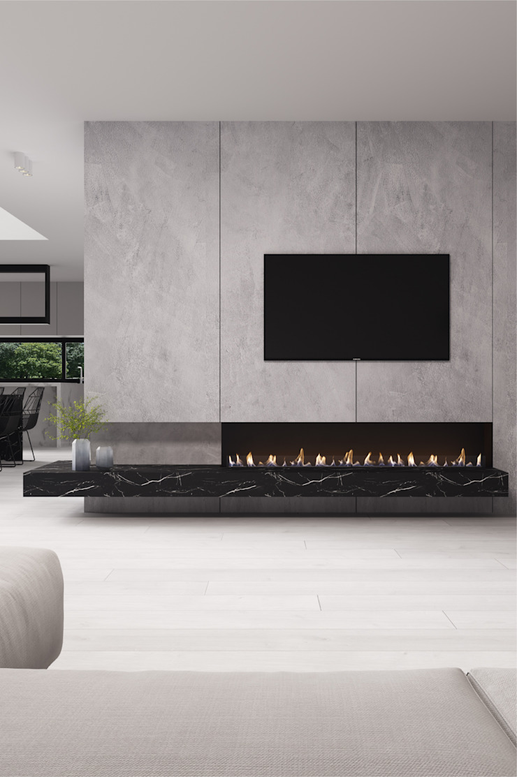 Nook Solutions por Shelter ® Fireplace Design Moderno