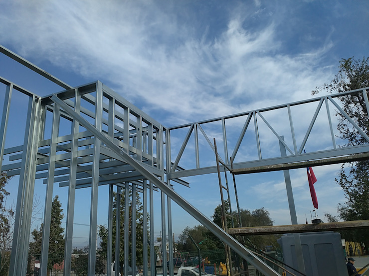 Estructura liviana acero galvanizado de Flandez Moderno
