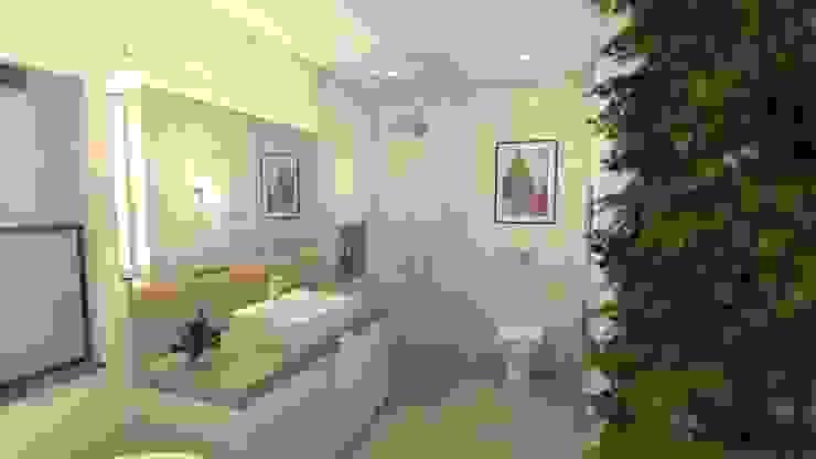 Banheiro amplo Banheiros modernos por Revisite Moderno