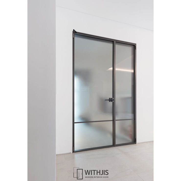 ALU-SW (1SW, 양개형 여닫이도어) by WITHJIS(위드지스) 모던 알루미늄 / 아연