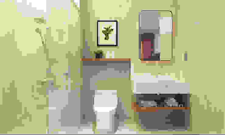 Baños de estilo moderno de thiết kế khách sạn hiện đại CEEB Moderno