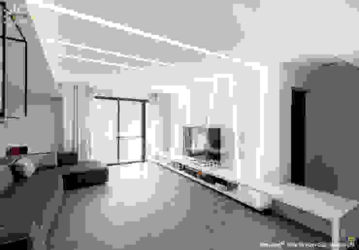 質樸 现代客厅設計點子、靈感 & 圖片 根據 光合作用設計有限公司 現代風