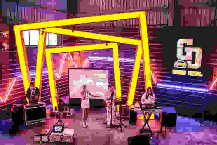 美好關係x勁德汽車 業傑室內設計 商業空間 強化水泥 Yellow