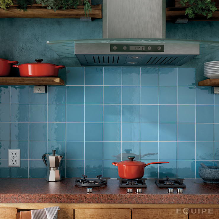 Equipe Ceramicas Kitchen Tiles Blue